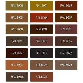 Mattco Ral Brown acrylic enamel